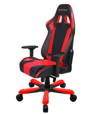 DXRacer KS06 Series Gaming Chair, Neck/Lumbar Support - Black & Red