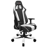 DXRacer KS06 Series Gaming Chair, Neck/Lumbar Support - Black & White