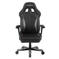 DXRacer KS57 Series Gaming Chair, Neck/Lumbar Support - Black & Carbon Grey
