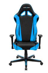 DXRacer Racing Series Gaming Chair, Neck/Lumbar Support - Black & Blue