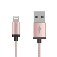 mbeat® MFI Certified 2m Aluminum & Nylon Braided Lightning™ Cable - Rose Gold