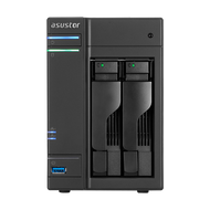 ASUSTOR AS6102T 2-Bay NAS, Dual-Core, 2GB DDR3L, GbE, USB 3.0, eSATA, HDMI, WoL, AES-NI