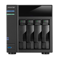 ASUSTOR AS6104T 4-Bay NAS, Duad-Core, 2GB DDR3L, GbE, USB 3.0, eSATA, HDMI, WoL, AES-NI