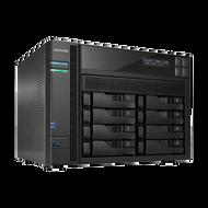 ASUSTOR AS7008T 8-Bay NAS, Core i3 Dual-Core, 2GB DDR3, GbE/HDMI/SPDIF/PCI-E(10GbE)/USB3.0/eSATA, LCD P