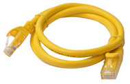 Cat 6a UTP Ethernet Cable, Snagless - 1m (100cm) Yellow