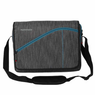 "Promate 'Ascend1-MB' Premium Accented Messenger Bag for Laptops up to 15.6"" - Grey"