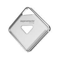 Promate 'proTag' Tracking Tag with Finder App & Remote Selfie Button Function - White