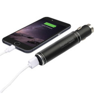 Promate 'Spark' Ultra-Portable Aluminium Car Charger with 2800mAh Power Bank/0.8A output, BLAC