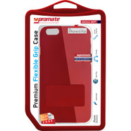 Promate 'Akton-i6P' Premium Flexible Grip Case w/Screen Protector for iPhone 6P/6SP - Red