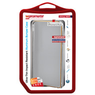 Promate 'Alloy-i6P' Ultra-Thin Impact Resistant Aluminum Bumper Case for iPhone 6P/6SP - Silver