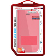 Promate 'Stellar-i6P' Ultra-Sleek Folio Case w/Screen Protector for iPhone 6P/6SP - Red