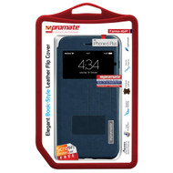 Promate 'Tama-i6P' Flip Cover for iPhone 6P/6SP w/Touch Window - Blue