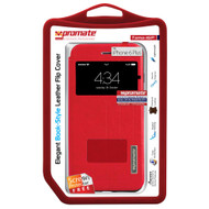 Promate 'Tama-i6P' Flip Cover for iPhone 6P/6SP w/Touch Window - Red