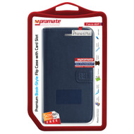 Promate 'Tava-i6P' Book-Style Flip Case w/Card Slots & Screen Protector for iPhone 6P/6SP - Blue