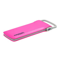 Promate 'polyMax-6' 6,000mAh Ultra-Slim Li-Polymer Powerbank w/Shake-View & Cable - Pink