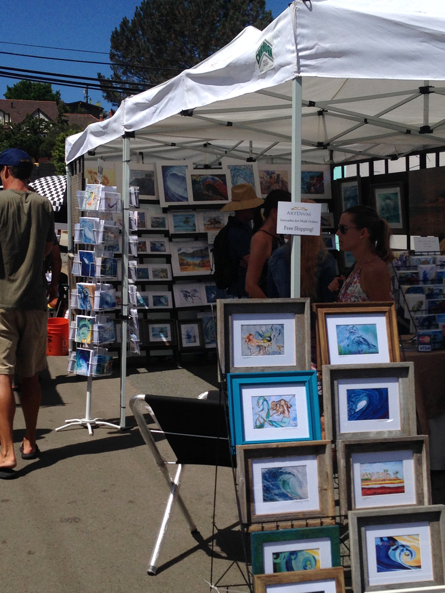 Leucadia Art Walk 2015 ArtDivas Booth