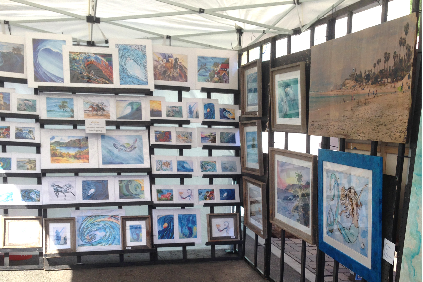 Leucadia Art Walk Artdivas Booth 2015