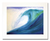 12 x 16 inch Blue Wave print by Tamara Kapan matted to fit an 16 x 20 inch frame