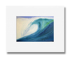 5 x 7 inch Blue Wave print by Tamara Kapan matted to fit an 8 x 10 inch frame
