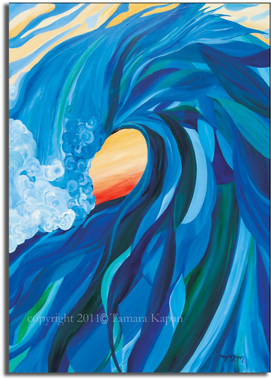 Original Abstract Wave Art by Tamara Kapan titled Braided Barrel