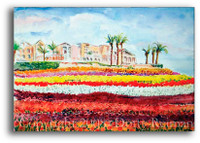 Carlsbad Flower Fields Original Watercolor Painting by Dotty Reiman