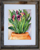8 x 10 inch Calla Lily fine art print by Dotty Reiman in an 11 x 14 inch reclaimed barn wood frame