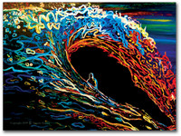 Abstract Wave Painting titled Eclipse by Tamara Kapan