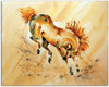 Watercolor Horse by Dotty Reiman titled Golden Prince