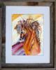 Rein Dance fine art print by Dotty Reiman shown in an 11 x 14 frame.