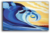 Abstract wave art by Tamara Kapan titled Mavericks