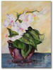 Orchid watercolor painting by Dotty Reiman