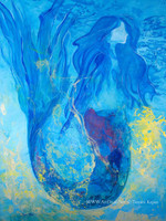Moving Forward - SOLD Original Mermaid Art by Tamara Kapan