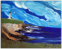 Point Arena Lighthouse painting by Tamara Kapan