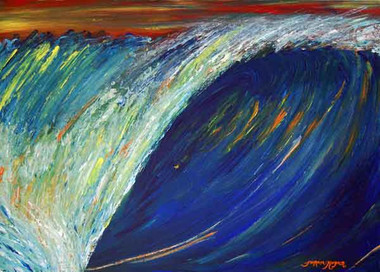 Original Wave Painting by Tamara Kapan titled Rainbow Wave