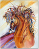 Watercolor Horse Painting by Dotty Reiman