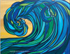 Abstract Wave Art by Tamara Kapan titled Rogue Wave