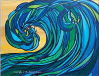 Rogue Wave - SOLD Original Abstract Wave Painting by Tamara Kapan