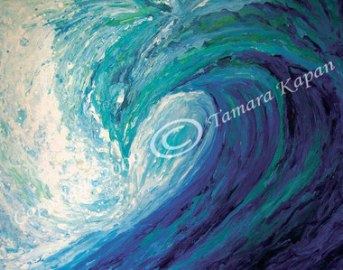 Blue Wave Original Painting by Tamara Kapan