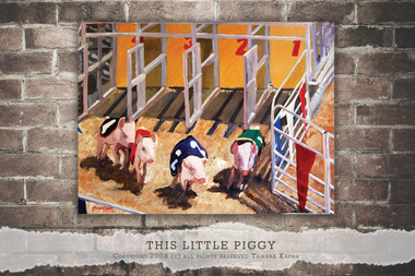 This Little Piggy original painting by Tamara Kapan