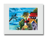 8 x 10 matted print titled The Villa by Dotty Reiman fits an 11 x 14 inch frame