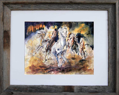 Wild Escape 8 x 10 inch fine art print framed in an 11 x 14 inch barn wood frame
