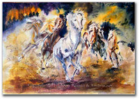 Wild Escape watercolor painting by Dotty Reiman