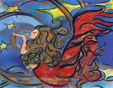Creating Inspiration mermaid art by Tamara Kapan