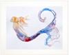 18 x 24 matted Tranquility mermaid fine art print by Tamara Kapan