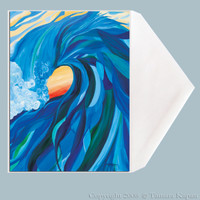Wave Art Greeting Card by Tamara Kapan titled Braided Barrel