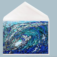 Gimme Shelter wave art greeting card by Tamara Kapan