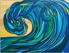 Rogue Wave abstract surf art by Tamara Kapan