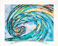 18 x 24 inch fine art wave print titled Liquid Glass by Tamara Kapan matted to fit a 22 x 28 inch frame.  Other sizes available both matted and as a print only.