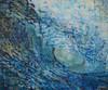 Original large acrylic wave painting by Tamara Kapan