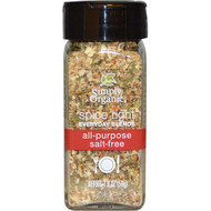 5 PACK of Simply Organic, Organic Spice Right Everyday Blends, All-Purpose Salt-Free, 1.8 oz (51 g)